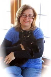Susan and her kitty, Raji
