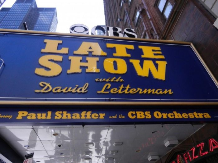 Late Show with David Letterman sign