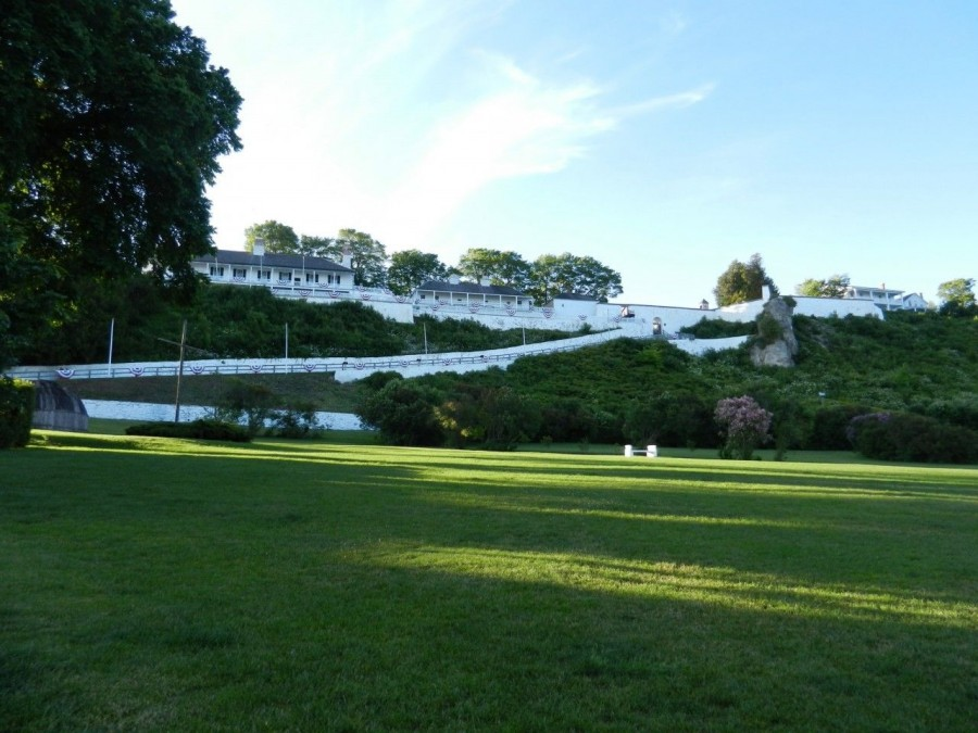 Fort Mackinac - up the hill.