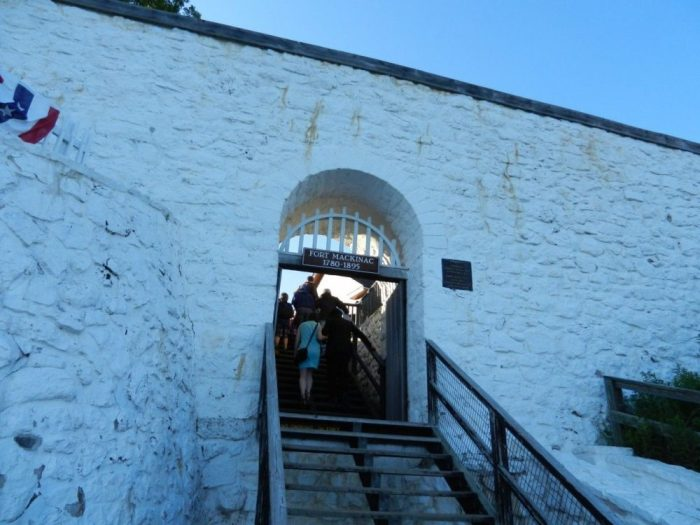Entrance to Fort Mackinac.