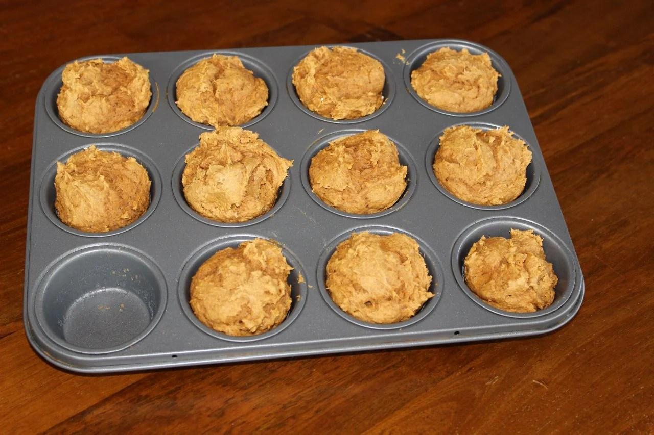 Spice cake mix and pumpkin recipe muffins