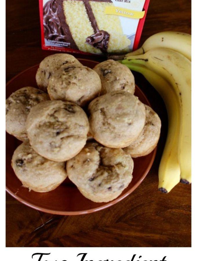 Two ingredient banana muffins!