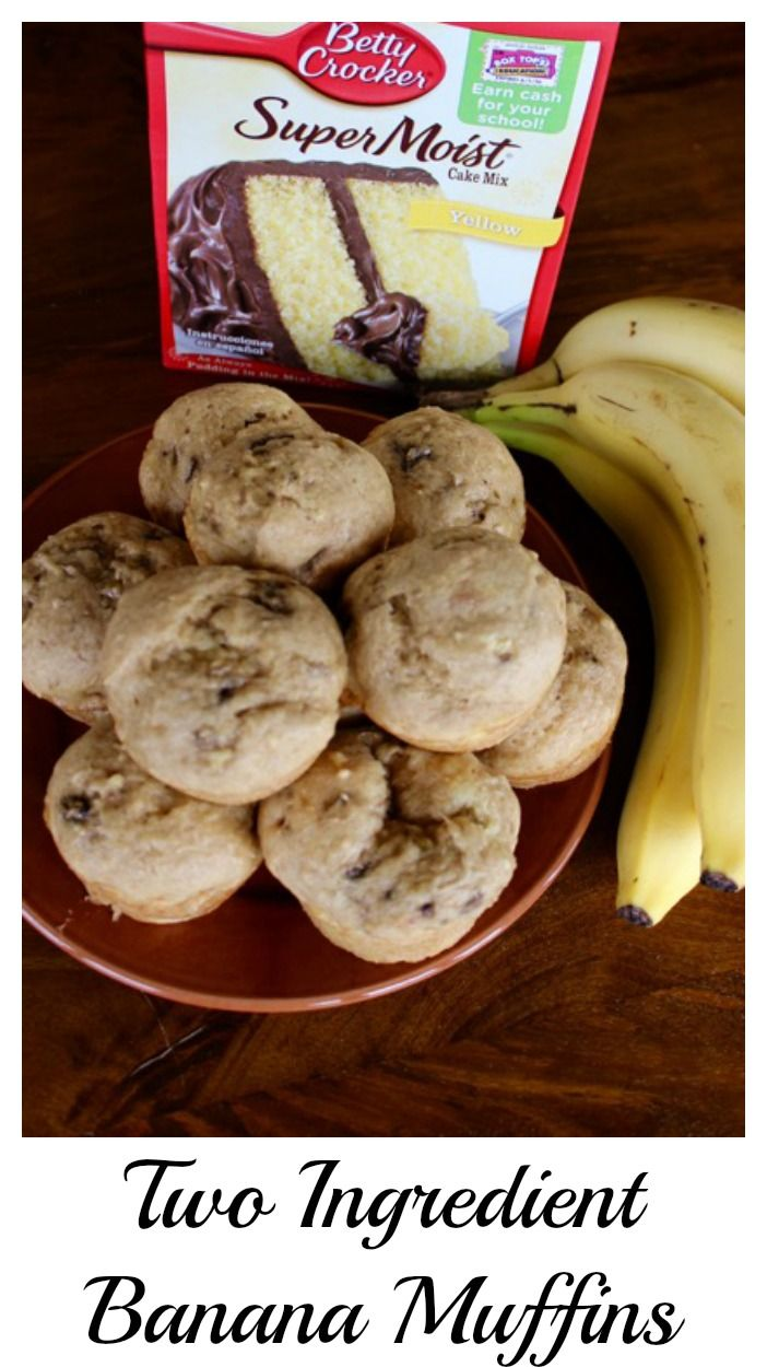 Two Ingredient Banana Muffins