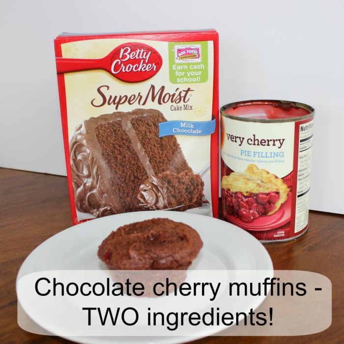 chocolate cherry muffins