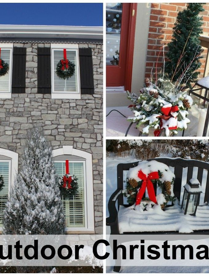 Wonderful outdoor Christmas decorations – during the day!