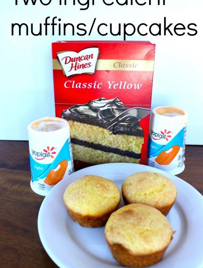 Two ingredient muffins / cupcakes (yogurt)