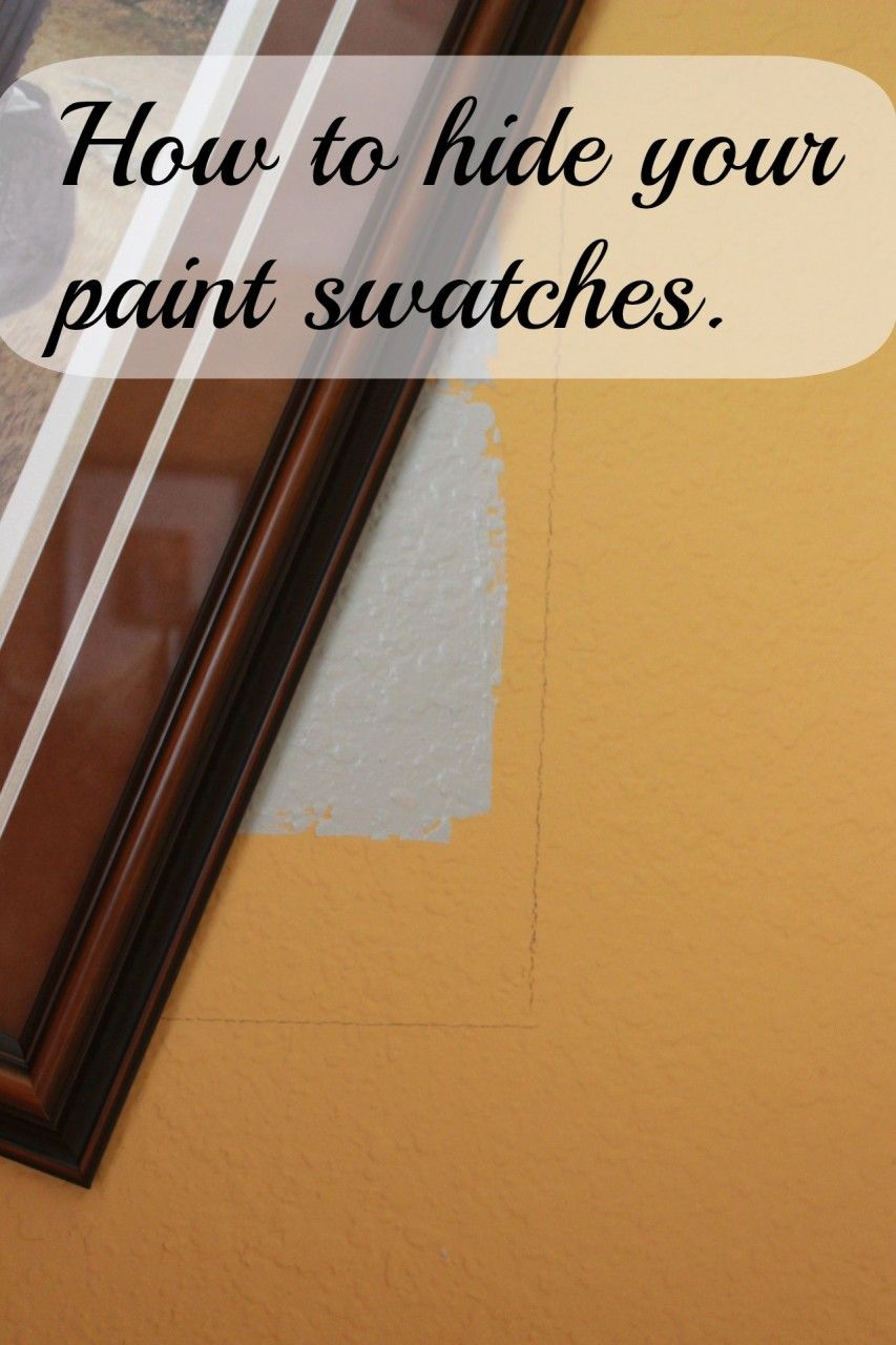 Gray Paint Samples On My Wall Momcrieff