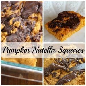 Pumpkin nutella squares. Just three ingredients!
