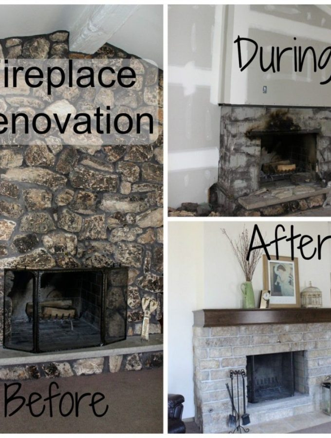 Fireplace renovation – from ugly to awesome!