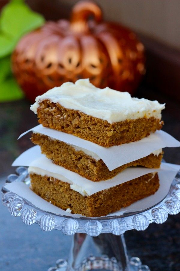 Paul's Pumpkin Bars (with cream cheese icing – yum)