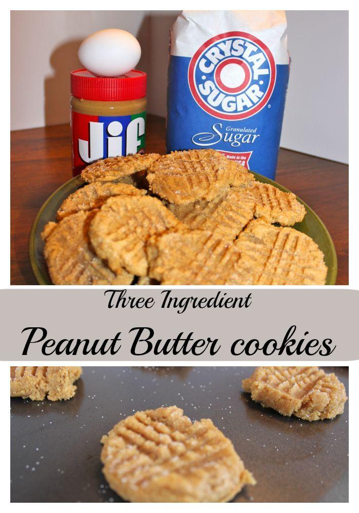 Three Ingredient Peanut Butter Cookies