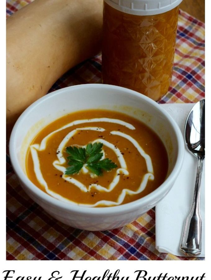 Easy Butternut Squash with Leek Soup