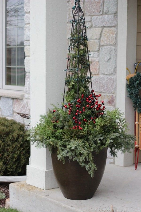 DIY Christmas Planter