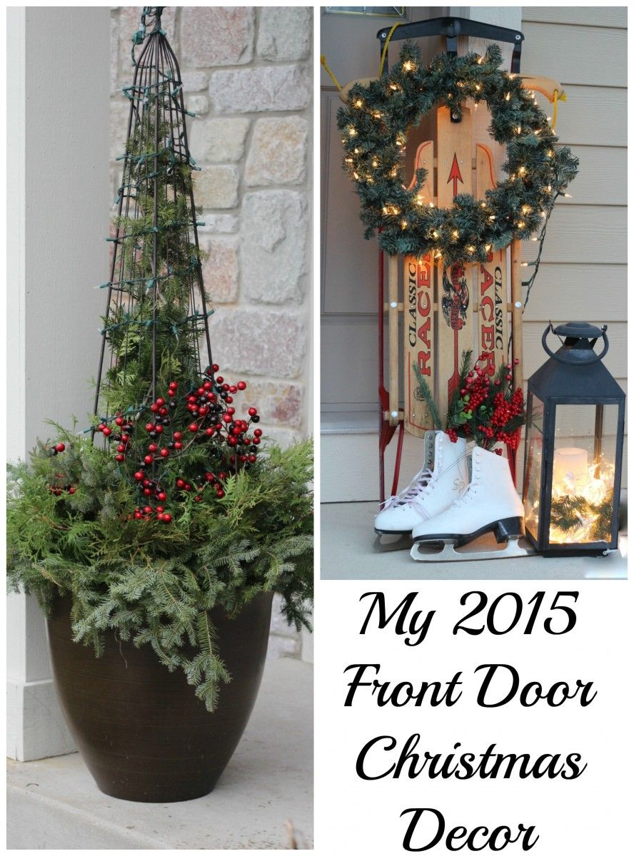 Christmas 2015 front door decor.