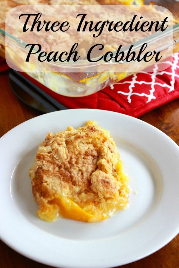 Two Ingredient Peach cobbler