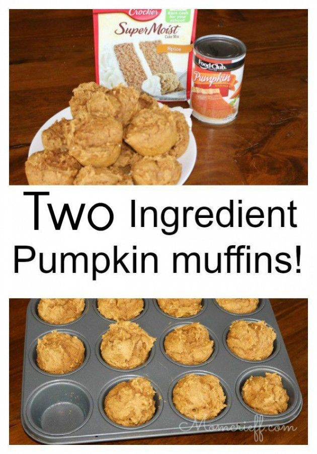 Top 10 Food Recipes - Two Ingredient pumpkin muffins.