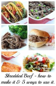 Shredded beef. How to make it and 5 ways to use it up.