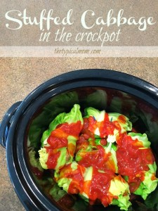 St. Patrick's Day - Crockpot stuffed cabbage recipe.
