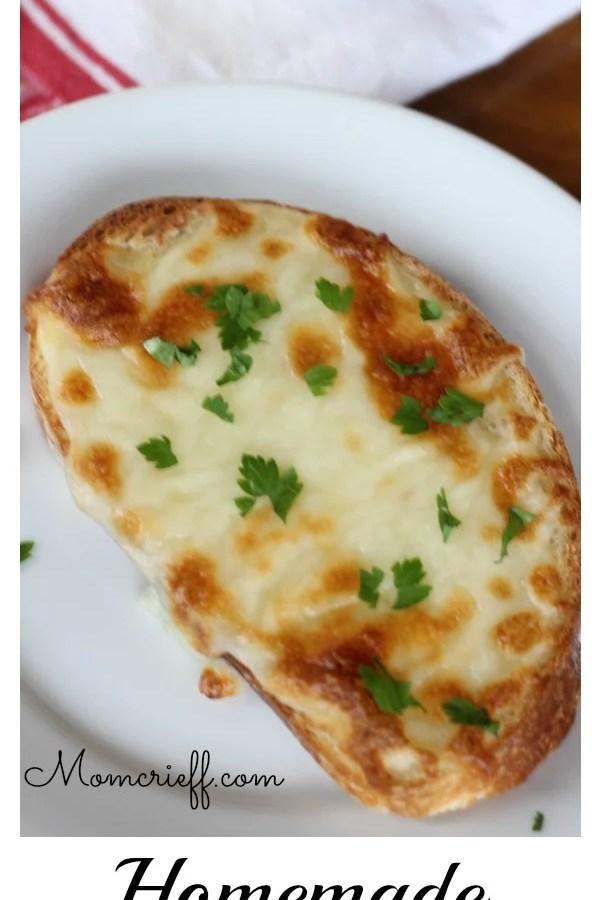 Homemade garlic bread!
