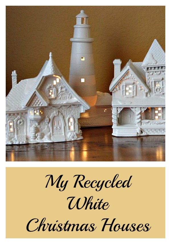 Recycled | Upcycled white christmas houses
