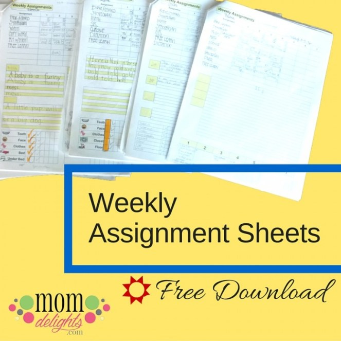 Assignment sheets title graphic