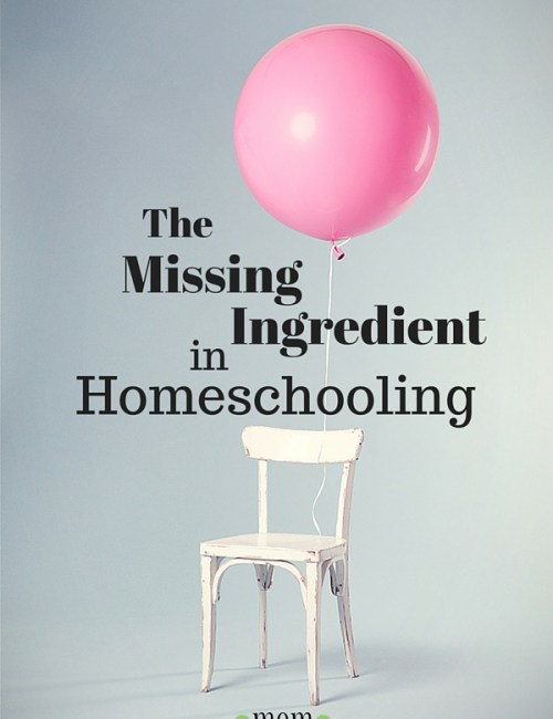 The Missing Ingredient in Homeschooling