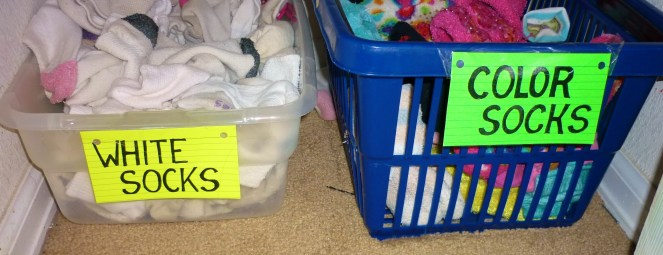 organized socks