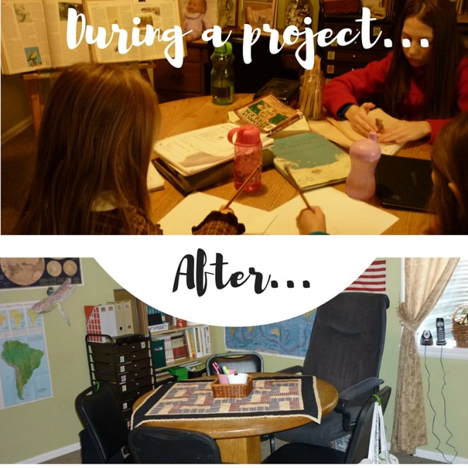 During a project...