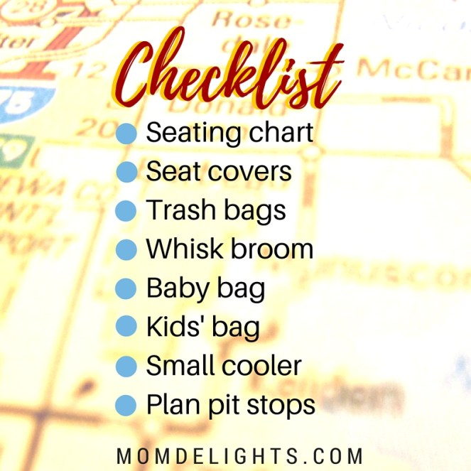large family road trips checklist