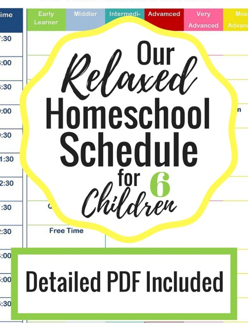 A Relaxed Homeschool Schedule
