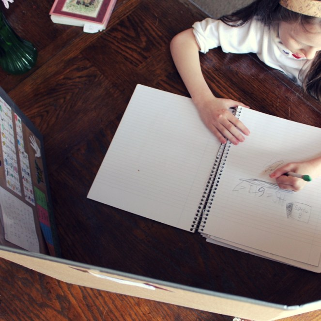 Homeschool study carrel