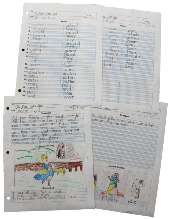 mcguffey lesson sheets third grade example