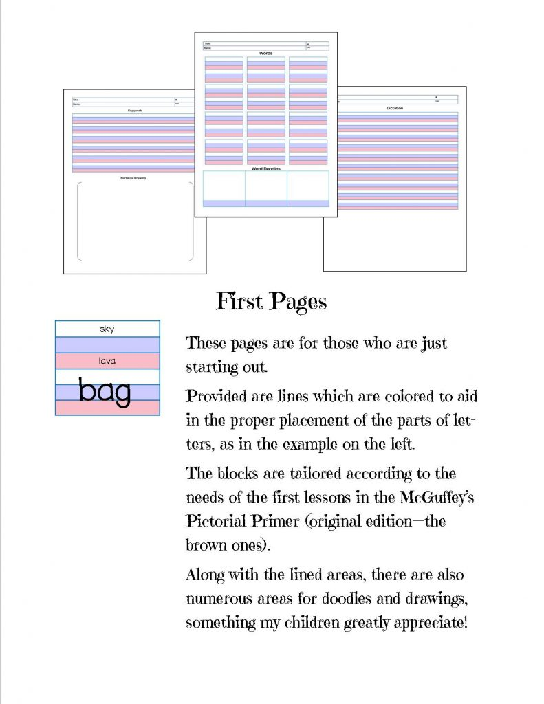 mcguffey lessons printable first pages sample picture