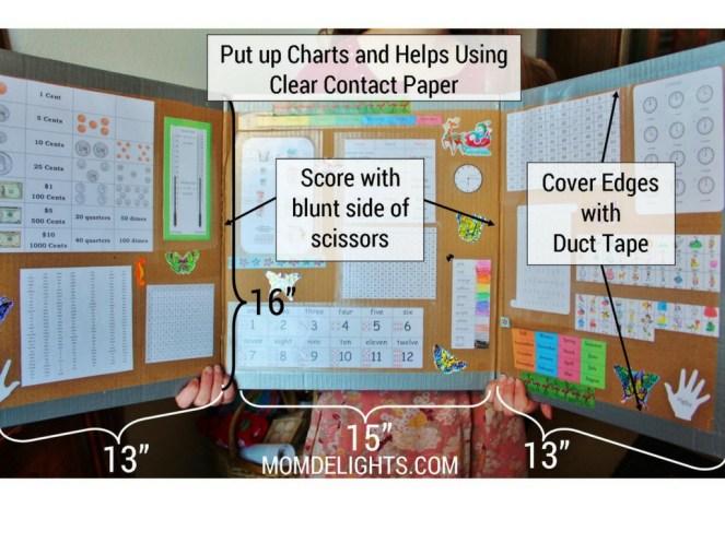 free homeschool study carrel directions