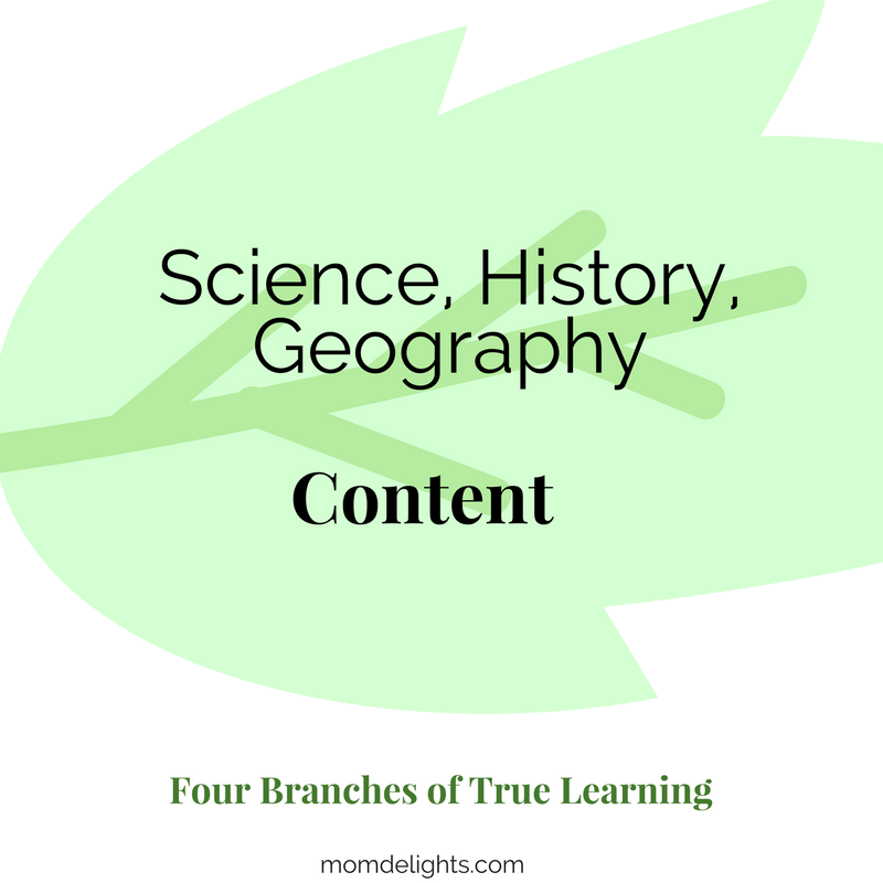 Four True Branches of Learning: Content Homeschooling
