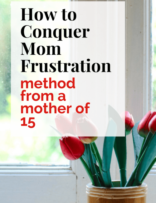 How to Conquer Mom Frustration