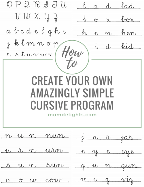 How to Create Your Own Amazingly Simple Cursive Program