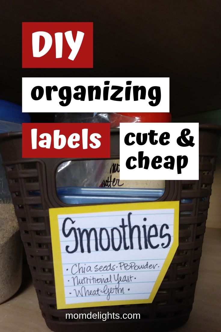 a bin labeled using a diy tutorial