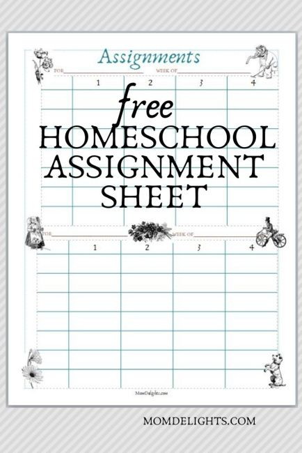 free assignment sheet download pinterest graphic