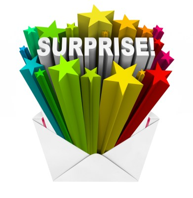 Surprise Word Bursts from Open Envelope Fun Gift