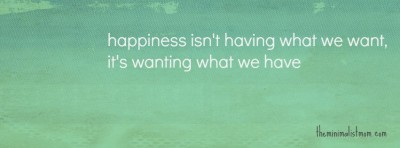happiness do less