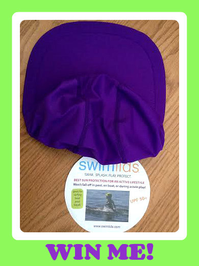 swim lid purple button