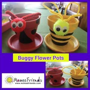 buggy flower pot