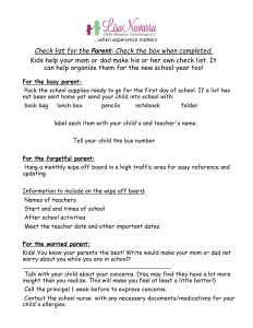 parent checklist september article