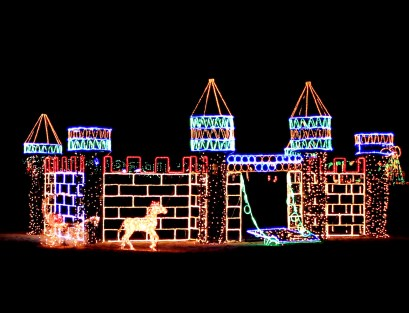 holiday light show castle