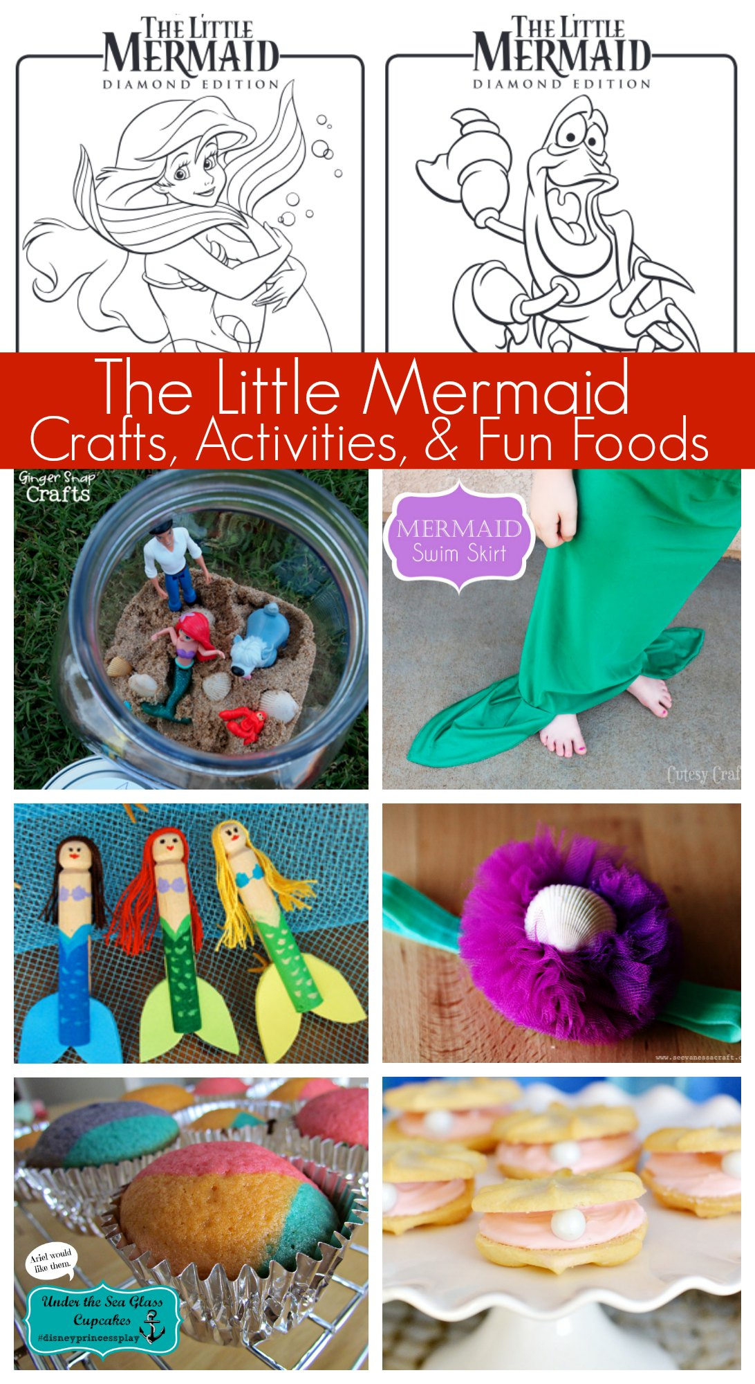 Disney S The Little Mermaid Activities Coloring Pages