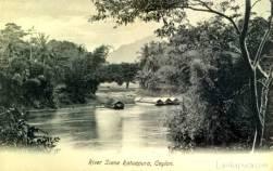 River Scene in Ratnapura [Image Courtesy: www.lankapura.com ]