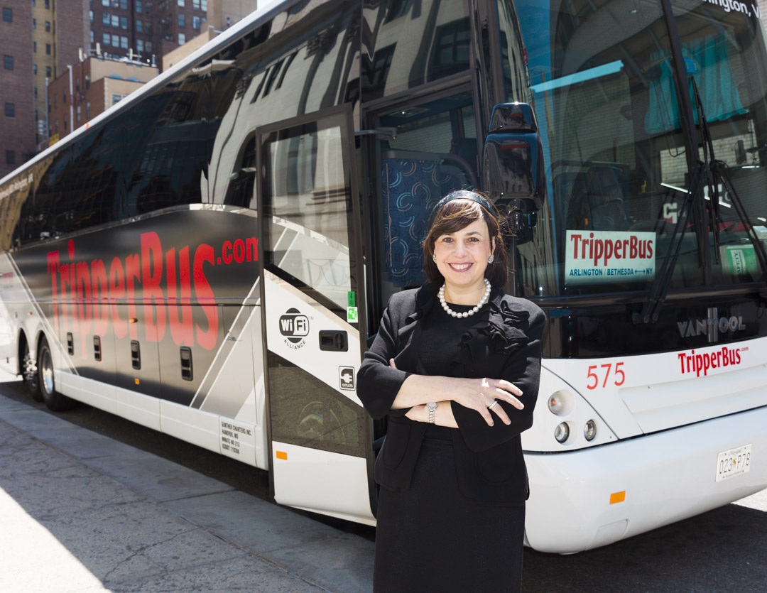 Betty Ungar CEO of Washington Deluxe and TripperBus