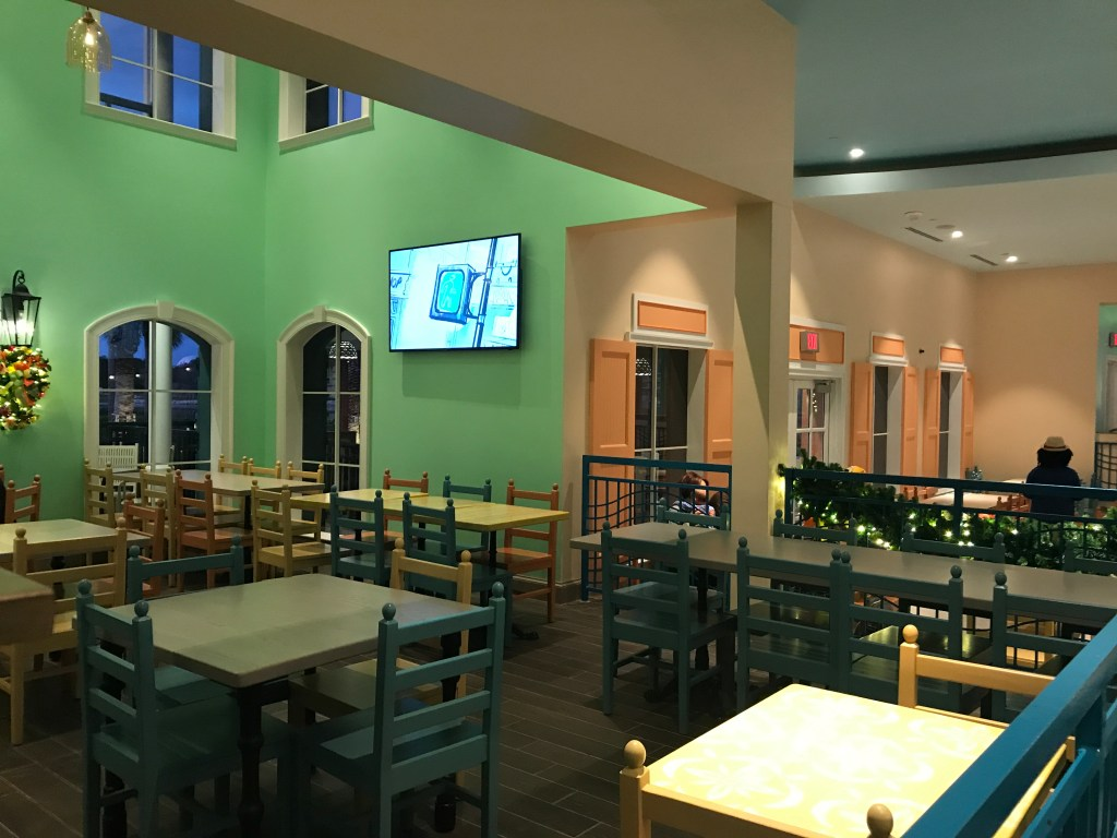 Seating at Centertown Market Caribbean Beach