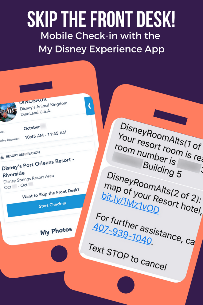 Mobile Resort Check-in At Walt Disney World